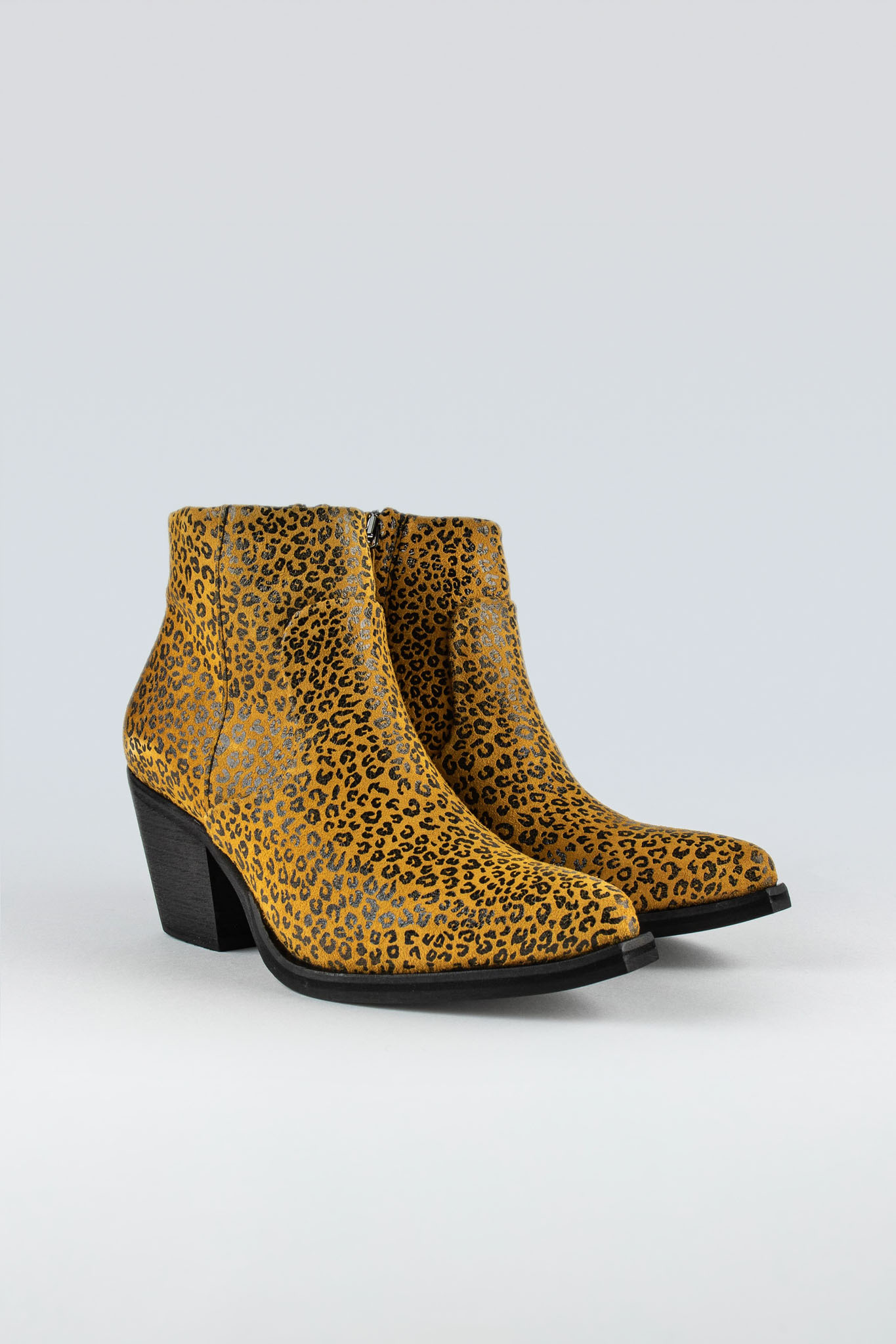Electric High W Suede Yellow Mini Leopard